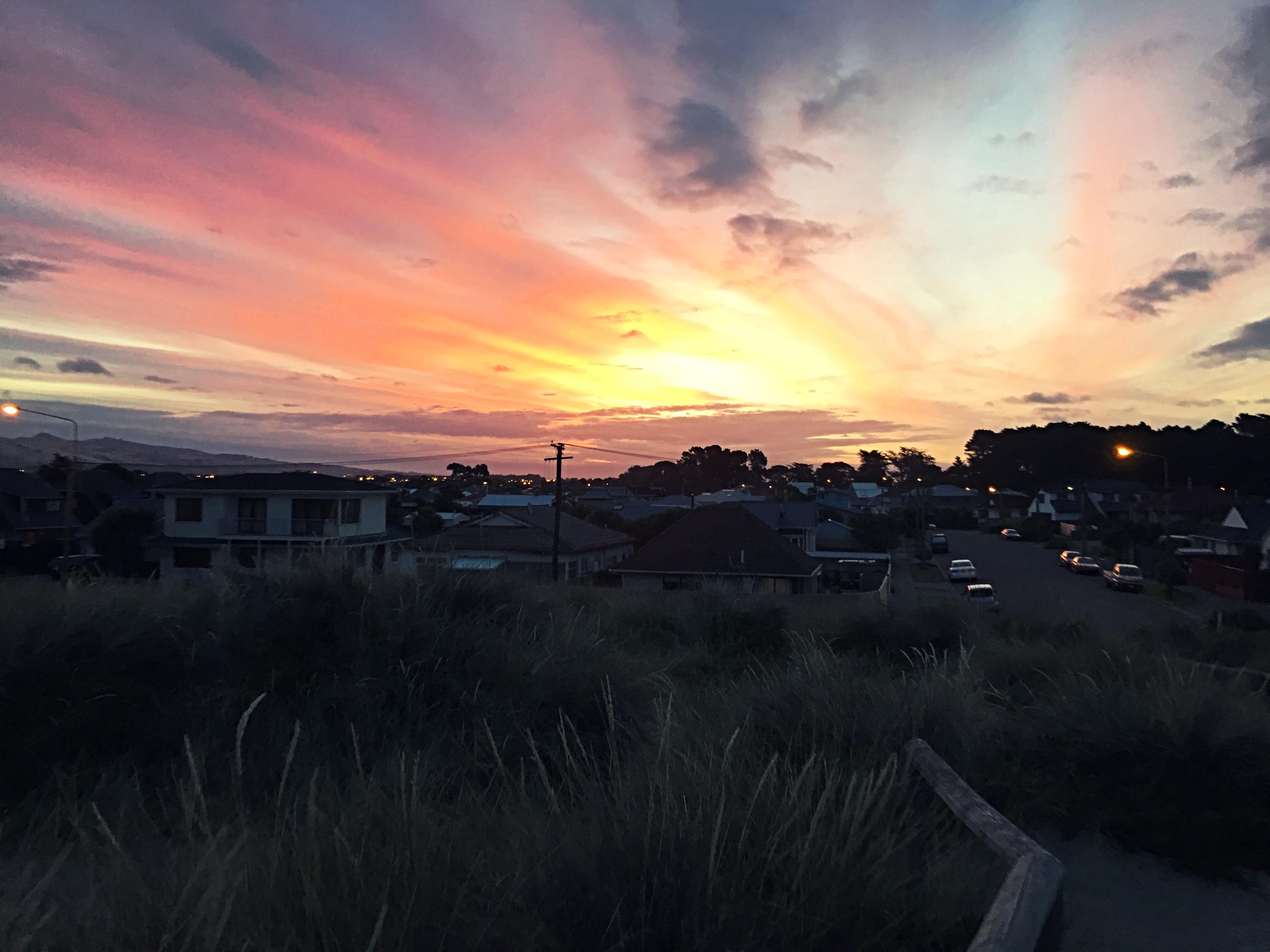 Sonnenuntergang bei unserer Ankunft